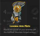 Leonine Arm Plate