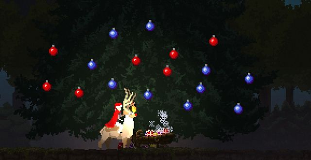 File:Christmas tree with ornaments and sleigh.jpg
