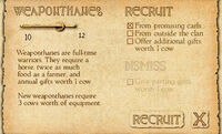 Recruiting weaponthanes