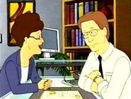Peggy Hill with Gary Cole in King of the Hill