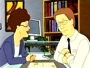 File:Peggy Hill with Gary Cole in King of the Hill.jpg