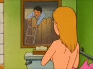Khan sees Luanne naked