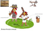 Roman scorpio concept