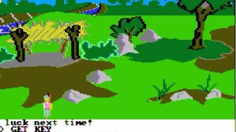 Apple II Game King's Quest (1984 Sierra On-Line)