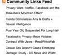 Community links feed