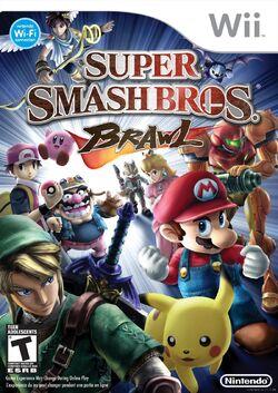 Carátula europea Super Smash Bros. Brawl.jpg