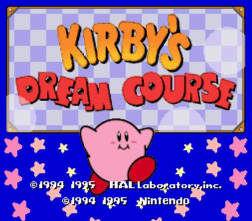 Archivo:Kirby's Dream Course Inicio.PNG