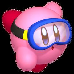 Kirby buceando.