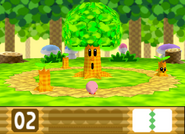 Fase de Whispy Woods en Kirby 64