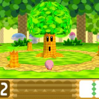 Captura de la fase de Whispy Woods.