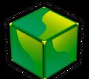 Grüner Block