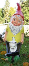 Garden gnome with wheelbarrow-20051026