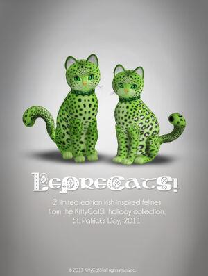 Leprecats poster ad