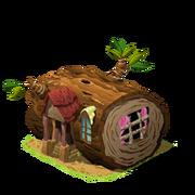 Hollow log house last