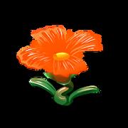 Glass flower orange premium last