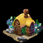 Thatched hut last