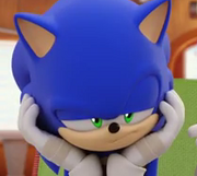 Sonic isn't amused either.