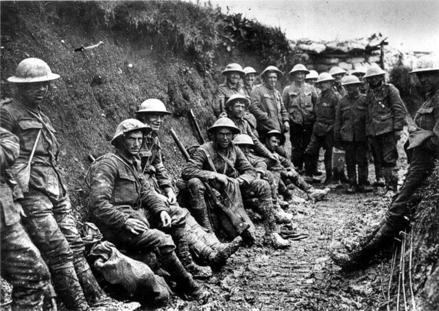 File:800px-Royal Irish Rifles ration party Somme July 1916.jpg