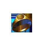 Gold ring frame
