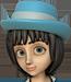 Clo-Blue bonnet blackhair