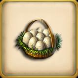 Goose egg basket framed
