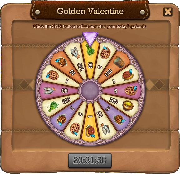 Golden valentine spin1