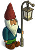 Gnome with a street lamp 2