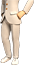 Clo-White pants