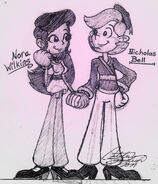 Nick n' Nora Pen Drawing - KND