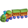 Toy train santa's village