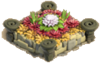 Flowerbed redorange