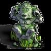Monkey statue ears mossy