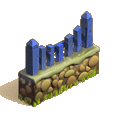 Fence blue