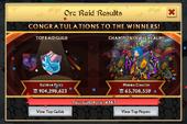Winners of Orc Raid