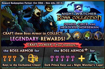Night Watcher Boss Collection Banner