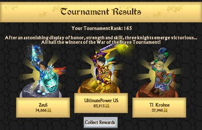War of the Brave Results