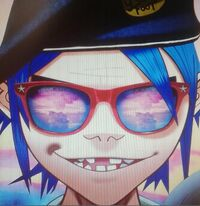2-D with glasses