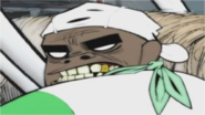 Russel growling at Murdoc and the film crew in MTV Cribs