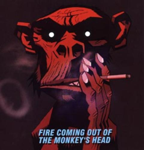 Murdoc Gorillaz Demon Days Fire Coming Out of the...