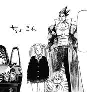 Akira letting Hinako and Tsukimi