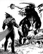Akira facing Grendel