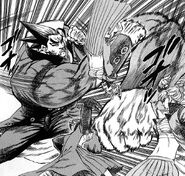 Haruka dodging Akira's attacks