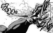 Mudou's hidden blade in his elbow