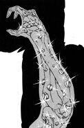 Haruka's arm full of metal bolts