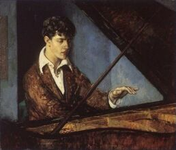 Leo Ornstein at the Piano (color) by Leon Kroll
