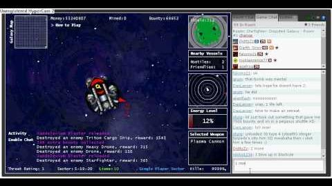 DiditzZz getting 100,000 kills on Starfighter Disputed Galaxy..