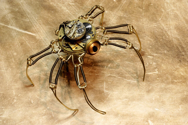 File:Steampunk speudo spider robot by catherinetterings-d4q6c8p.jpg