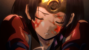 Mumei sleeping after her fight