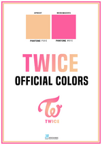 TWICE Official Group Colors