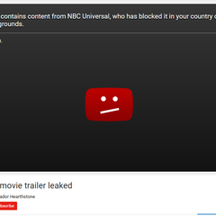 NBCUniversal taking down a trailer for Warcraft the movie